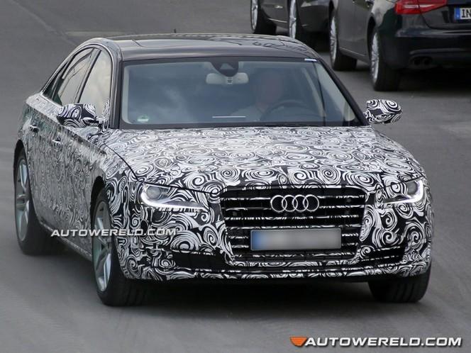 Surprise : le restyling pour l'Audi A8 déjà sur les routes