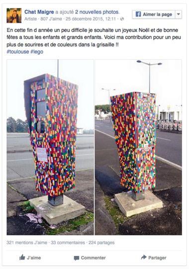 A Toulouse, un artiste décore un radar avec des briques Lego®