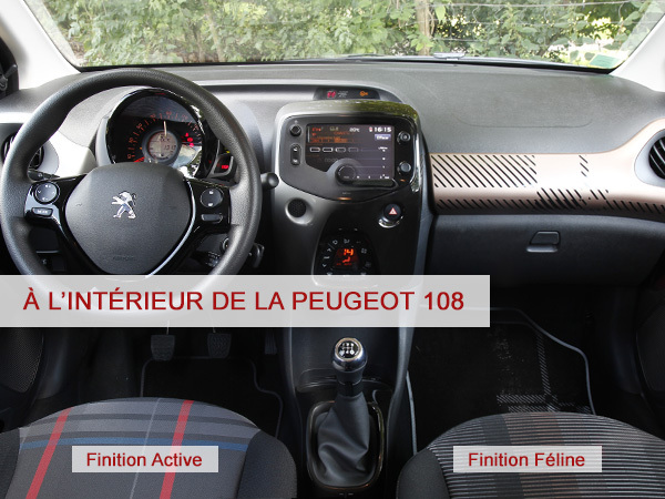 a l 39 int rieur de la peugeot 108. Black Bedroom Furniture Sets. Home Design Ideas