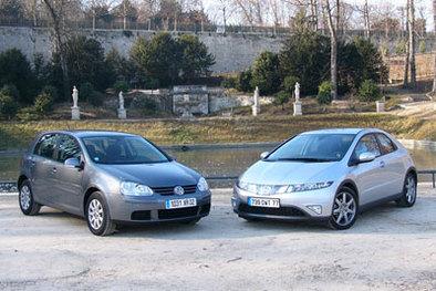 Honda Civic 2.2 CDTi/Volkswagen Golf 2.0 TDI: rencontre de deux légendes