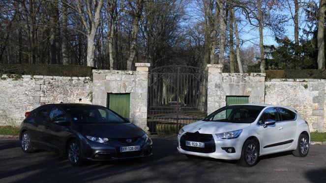 Citroën DS4 vs Honda Civic : apprentis premium