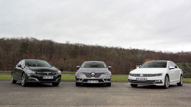 Comparatif vidéo - Renault Talisman vs Peugeot 508 vs Volkswagen Passat : nouvelle hiérarchie ?