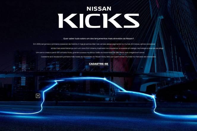Brésil : le Nissan Kicks montre sa ligne