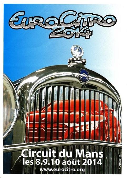 EuroCitro 2014: rendez-vous au Mans les 8, 9 et 10 août 2014