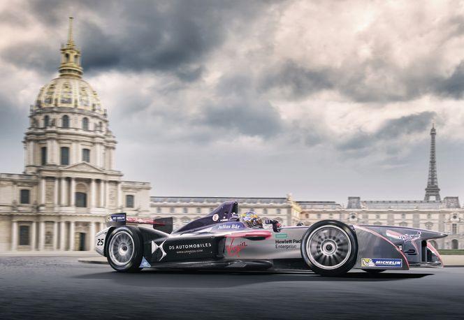 Jean-Eric Vergne, pilote de l'écurie DS Virgin Racing (photomontage)