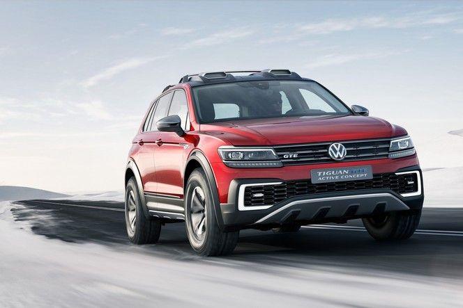 Salon de Detroit : Volkswagen présent avec le Tiguan GTE Active concept