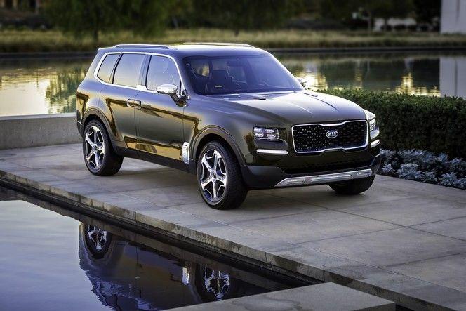 Salon de Detroit : le gros SUV Kia Telluride sort de l'ombre