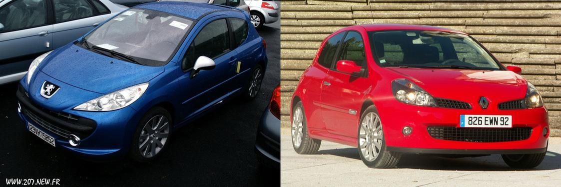 Peugeot 207 GTI vs Renault Clio RS : Atmo contre Turbo