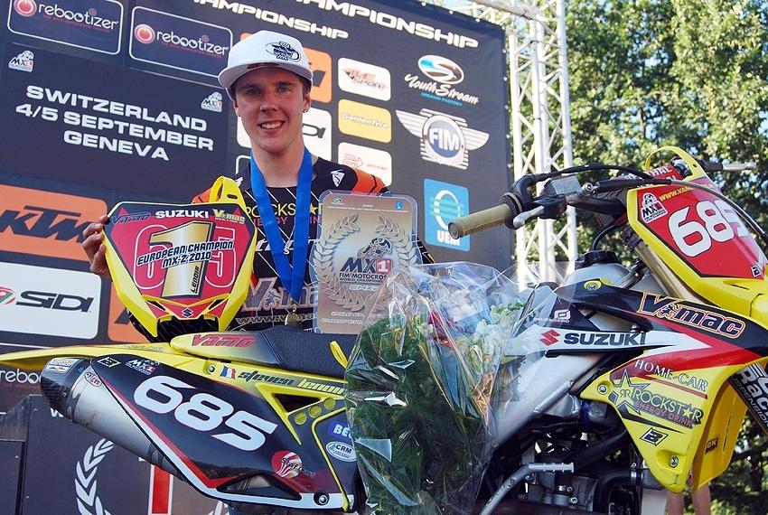 EMX2 - Suisse : Steven Lenoir champion d'Europe MX2 2010