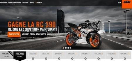 KTM, jeu-concours RC: repartez avec une RC 390
