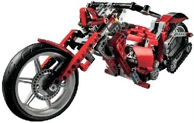 Noël : moto lego