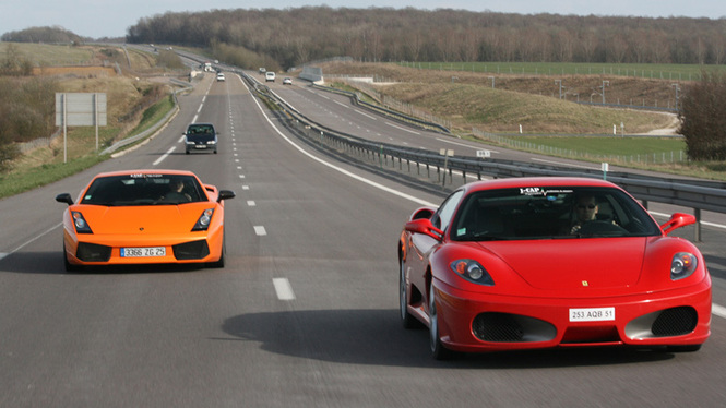 gallardo superleggera – ferrari f430 : taureau contre cheval