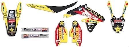 BlackBird : Kit replica Vamo Racing, pour que votre Suzuki RMZ se la joue RockStar