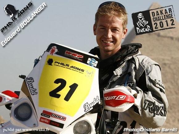 Edouard Boulanger, vainqueur du Dakar Challenge