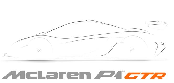 Future McLaren P1 GTR : la voilà en dessin