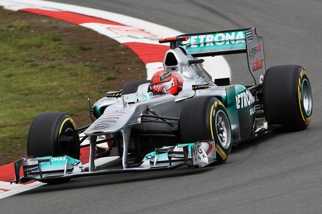 Michael Schumacher en F1 sur la Nordschleife