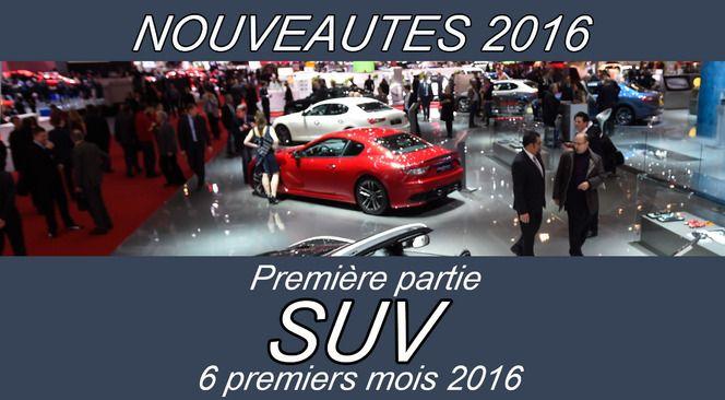Calendrier des nouveautés 2016 - Crossovers 1re partie : arrivée des Bentley Bentayga, Ford Edge, Jaguar F-Pace, SUV Seat, restylage du  2008 de Peugeot…