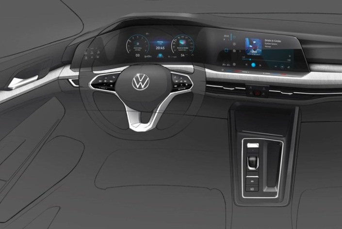 Volkswagen Golf 8: voici à quoi ressemblera sa planche de bord
