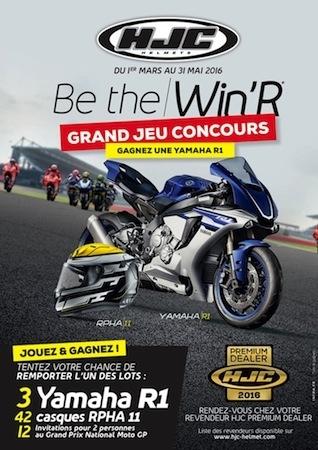 Jeu concours HJC Be The Win'R: des Yamaha R1 2016 à gagner