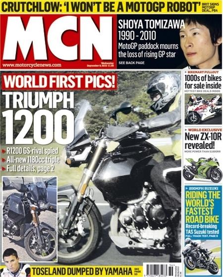 Triumph : Une Tiger 1200, mais pas pour 2011