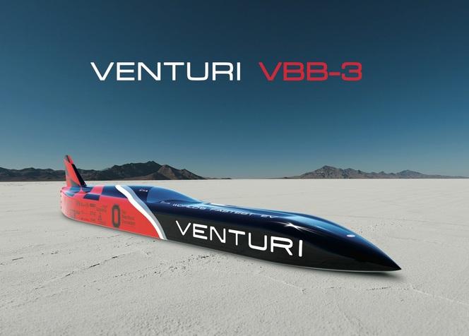 Venturi VBB-3 : 3000 ch pour atteindre 710 km/h et battre son propre record