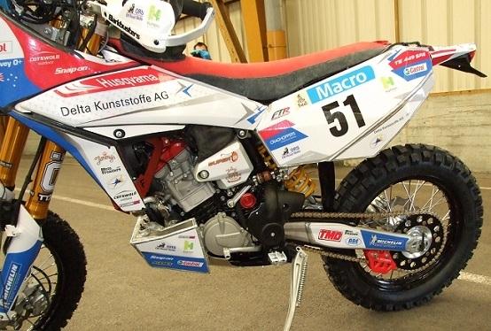 Dakar 2013 : La 450 Husqvarna TE de Simon Pavey