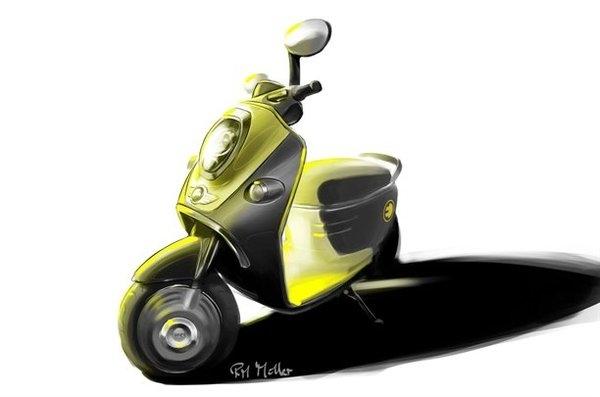 Scooter électrique : Un concept rétro sur le stand Mini au Mondial