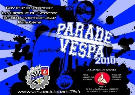 Les Vespa envahissent Paris le 18 septembre