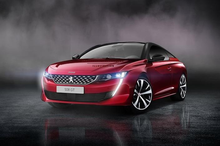 Peugeot: une 508 coupé imaginée