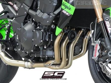 Sc Project: une ligne pour la Kawasaki Z750 avec collecteur conique.
