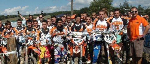 Kenny Festival 2010 – Reygades, finale du trophée KTM, l'importateur a remis une 250 SXF au vainqueur
