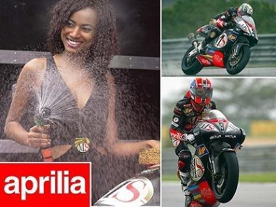 Moto & Sexy ; la douche selon Aprilia