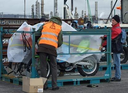 L'embarquement d'André Lenoble au Havre