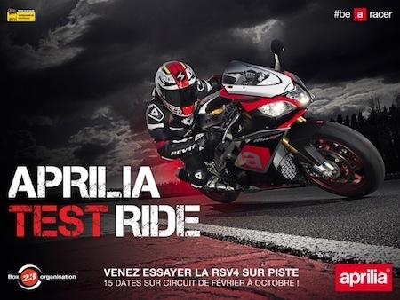 Aprilia Test Ride: venez essayer gratuitement une RSV4