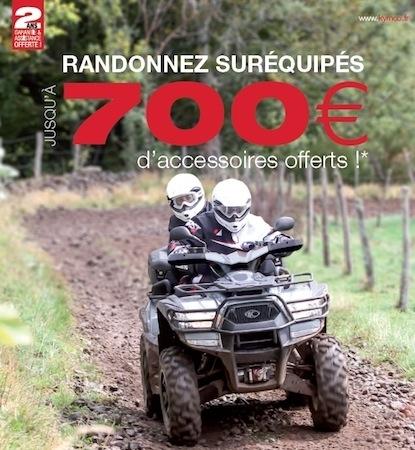 Kymco: jusqu'à 700 euros d'accessoires offerts sur la gamme quad