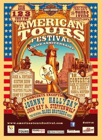 Harley-Davidson à l'American Tours Festival (du 1er au 3 juillet 2016)