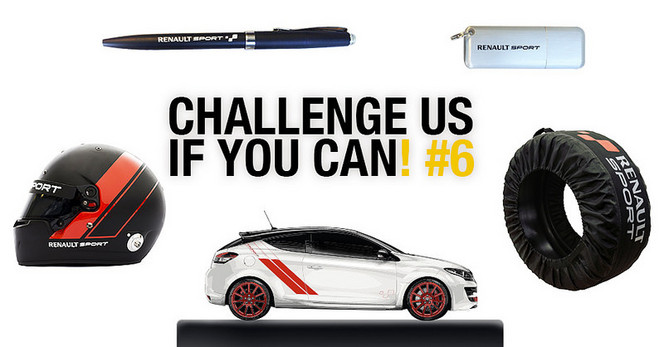 "Participez au tournage du 6e épisode de ""Challenge Us If You Can"" de Renault Sport"