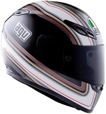 Haut de gamme italien : le casque AGV GP Tech Stripes.