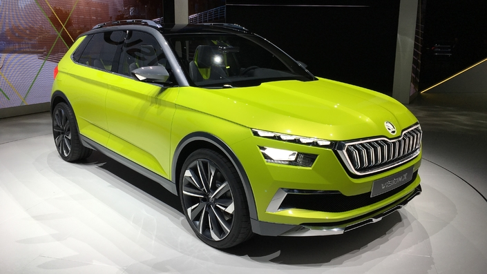 Skoda Vision X Concept Le Couteau Suisse Video En Direct Du