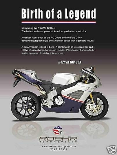 Roehr Motorcycles : faites vos enchères sur E-Bay