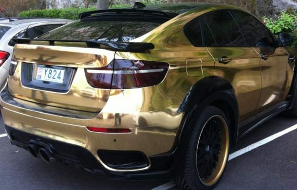 Le BMW X6 d'Ibrahima Touré, attaquant de l'AS Monaco