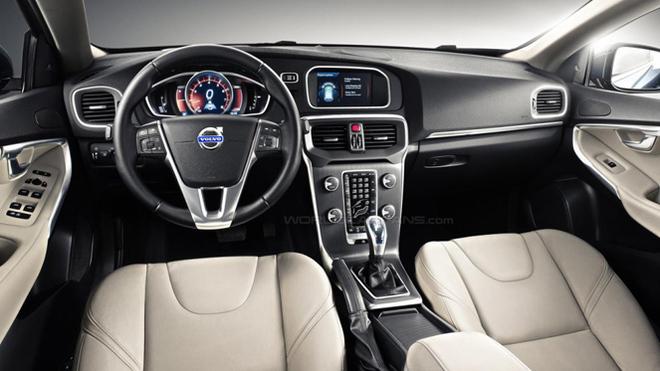Volvo V40 : première photo de l'intérieur