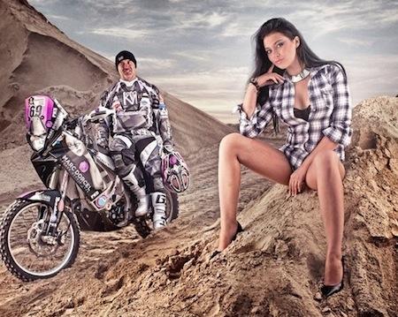 Anna Polina et Marc Dorcel sur la ligne de départ du prochain Dakar