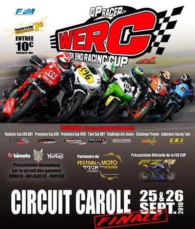 WERC ce week-end à Carole : des finales à gogo en plus du Festival de la Moto et du Scooter : « fête » d'une pierre deux coups…