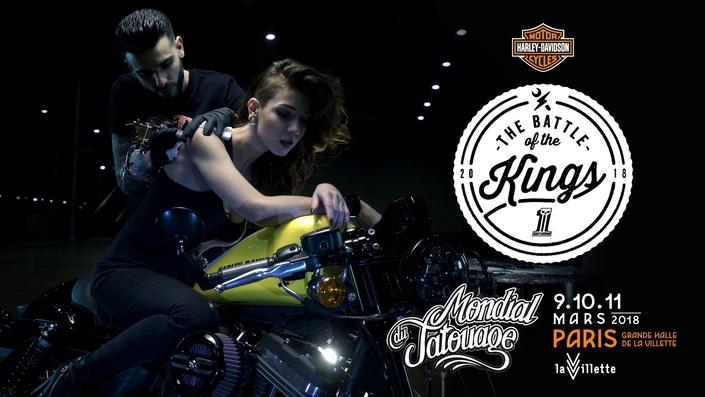 Harley-Davidson au Mondial du Tatouage de Paris, du 9 au 11mars 2018