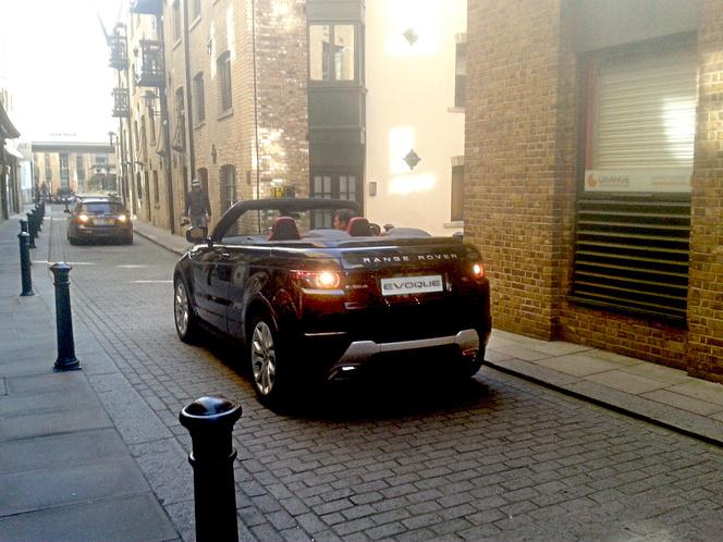 Le Range Rover Evoque Cabriolet en fuite dans Londres