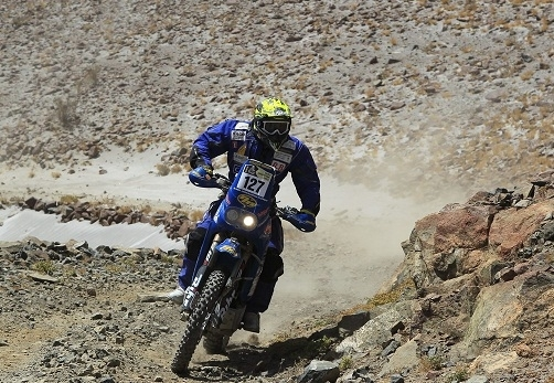 Dakar 2013 : Nicolas Boyer à mi-parcours  avec son 400 XR