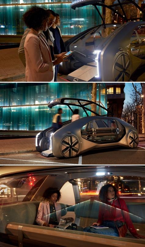 Le concept-car Renault EZ-GO (prononcez Easy Go) est une vision de la mobilité urbaine du futur, partagée et connectée.