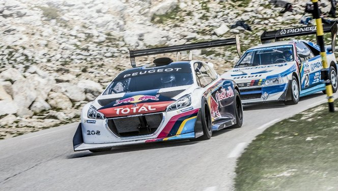 Peugeot teste sa 208 T16 Pikes Peak sur le Mont Ventoux