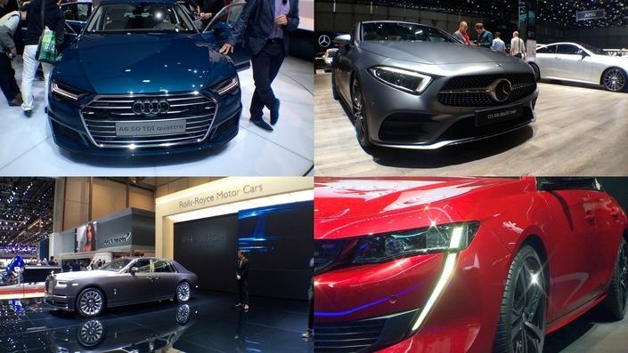 """Audi A6, Mercedes CLS ou Peugeot 508 donnent des interprétations variées de la """"berline de papa"""". Quant à la Rolls Phantom, elle fait voyager même à l'arrêt..."""